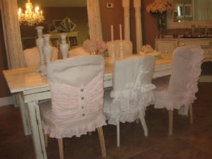 shabby/casual chic chair slipcovers